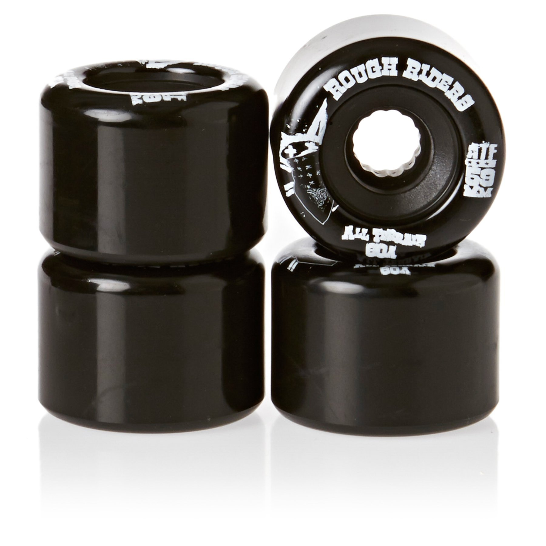 Bones Wheels Rough Riders 59mm Black Skateboard Wheels by Bones Wheels