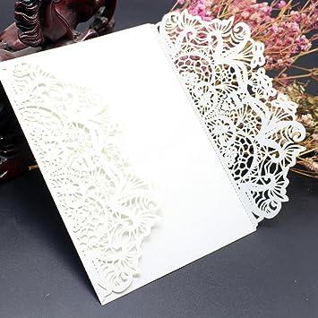 Wedding invitation card xshuai 10x elegant white laser cut wedding wedding invitation card xshuai 10x elegant white laser cut wedding invitations cards kit with stopboris Images