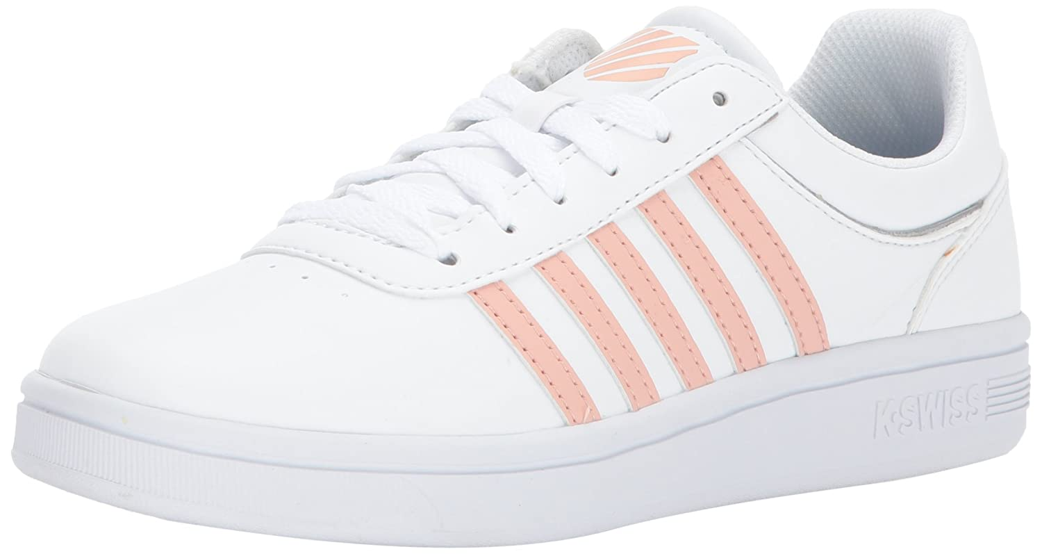 K-Swiss Women's Court Cheswick S Sneaker B0716ZXGVQ 8 B(M) US|White/Dusty Pink