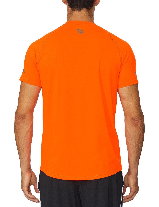 Baleaf Herren Lauf T-Shirt Fitness Shirts Kurzarmshirt