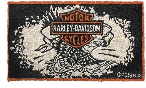 Harley-Davidson Legendary Eagle B S Durable Coir Mat, 16 x 28 – Black 2RM4906