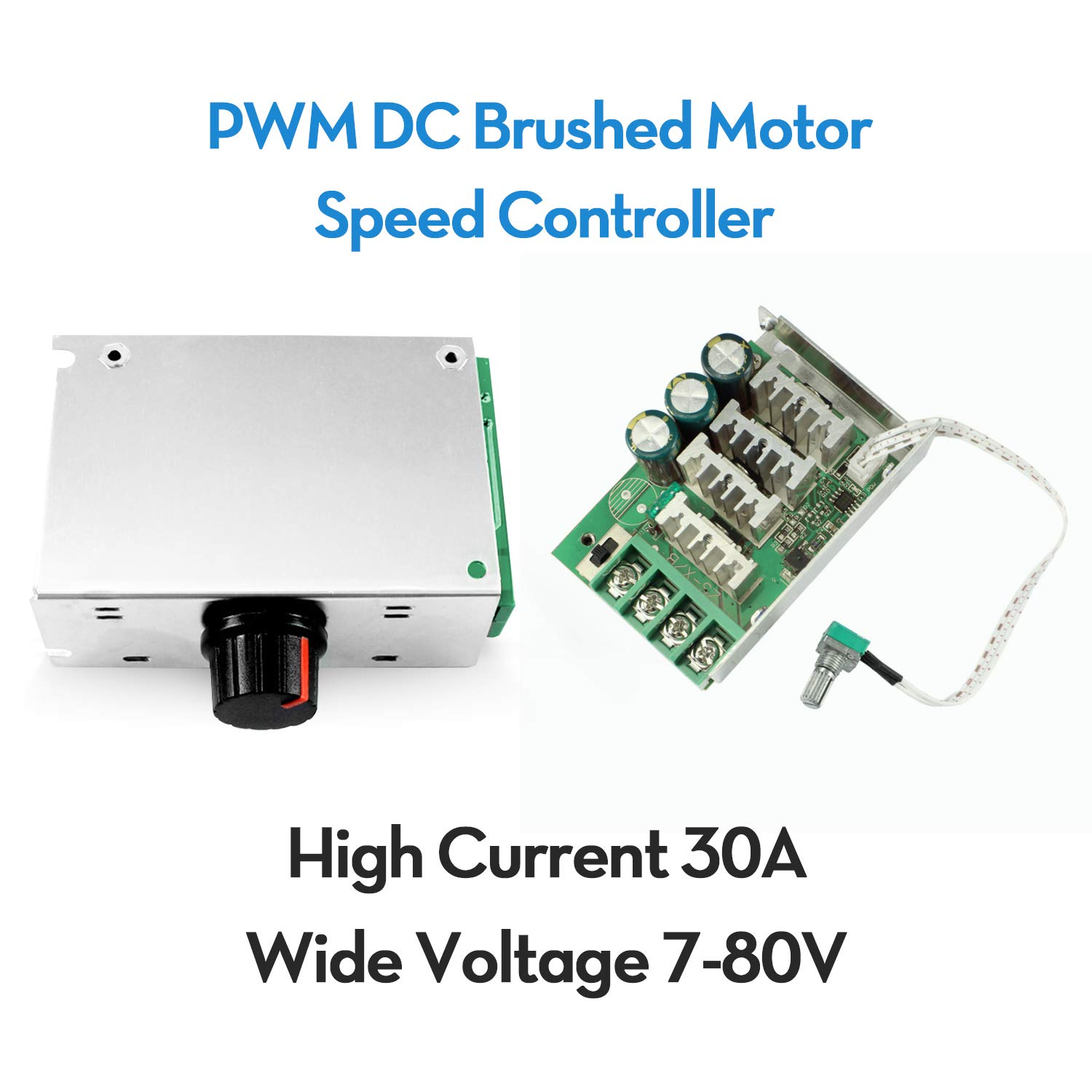 7V-80V 30A PWM DC Motor Speed Control Switch Controller Dimmer