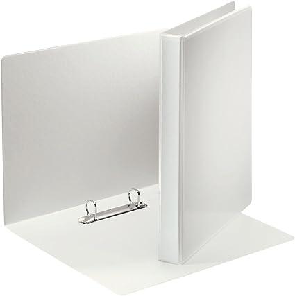 Esselte 49738 - Carpeta con anillas, con bolsillos, A4, PP, 2 anillos, 20 mm, blanco, 1 unidad: Amazon.es: Oficina y papelería