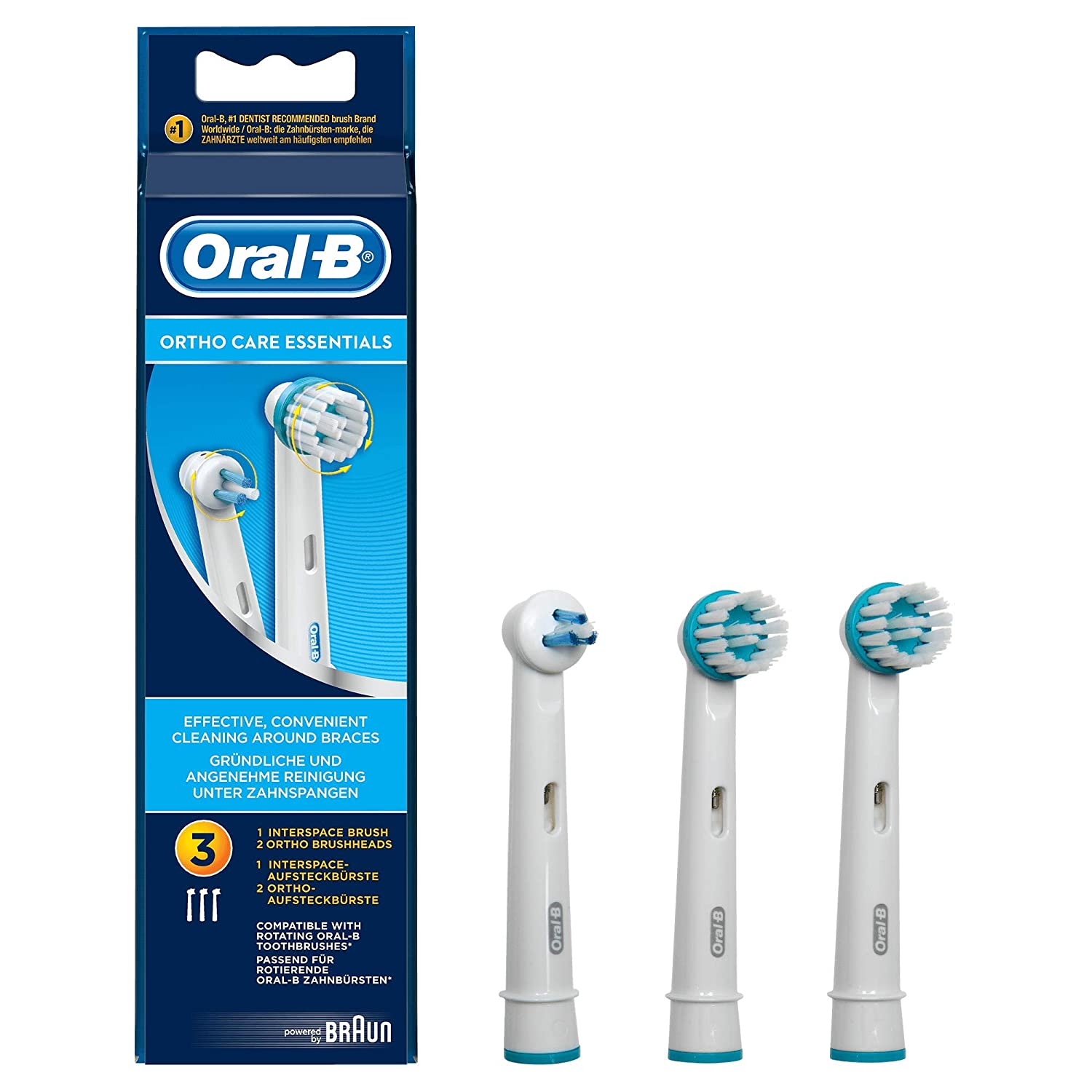 Oral-B Genuine Ortho Care Essentials Replacement Heads, 1