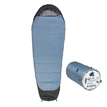 10T Outdoor Equipment 10T Nardu Saco de Dormir de la Momia, Azul, Estándar: Amazon.es: Deportes y aire libre