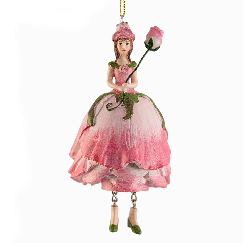 Figurine Déco Fleur Rose Rose Flower Fairy à Suspendre Rosemarie Schulz