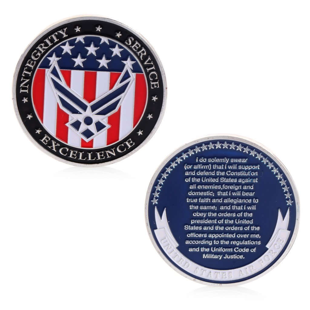 Roboco US Mint,The Oath of The United States Air Force Commemorative Challenge Coin Collection Novelty Gift US Mint