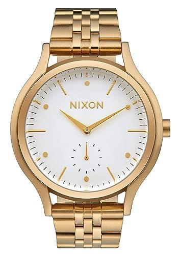 Nixon Reloj Analógico para Mujer de Cuarzo con Correa en Acero Inoxidable A994-508-00: Amazon.es: Relojes