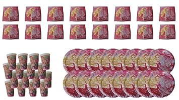 Barbie 2510; Pack Desechables Ideal para Fiestas y ...