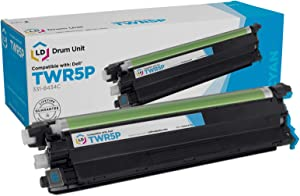 LD Compatible Drum Cartridge Replacement for Dell 331-8434C TWR5P (Cyan)