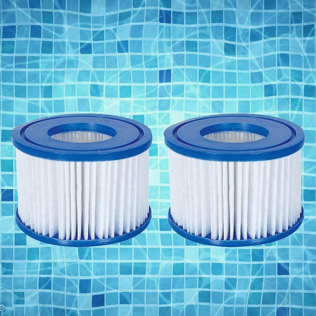 1PC Pool Filter Replacement Filter Cartridge for Backyard Swimming Pool Type D Filter Pump Cartridge Hot Spring Spa Pools 12.5x7x7cm, Blue