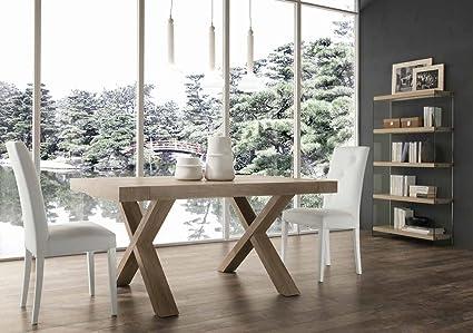 Paride Rovere Rustico tavolo allungabile design 160x90: Amazon.it ...