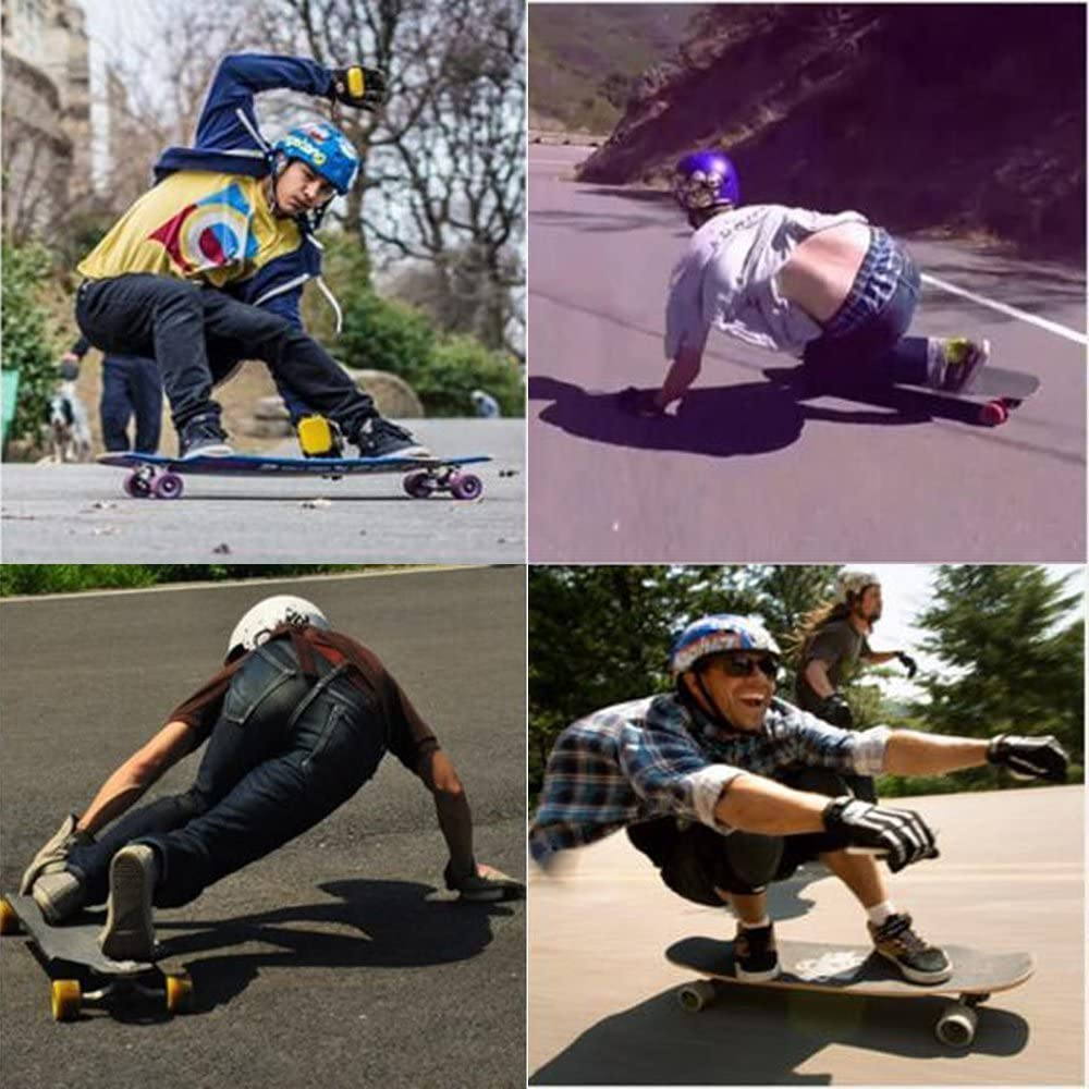 IMPORX Longboard Skateboard Gloves Adult Downhill Slide Glove Skate Protective with Removable and Replaceable Slider Pucks