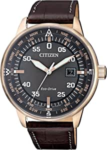 Citizen Casual Watch For Men Analog Leather - BM7393-16H