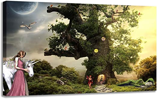 maiden-girl-and-Unicorn-Tree-Fairy-Pictures