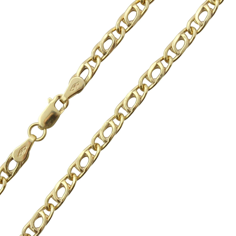 14 Karat / 585 Gold Tigeraugen Pfauenauge Unisex Gelbgold Kette - Breite 3.20 mm - Länge wählbar PRINS JEWELS 14TH-01