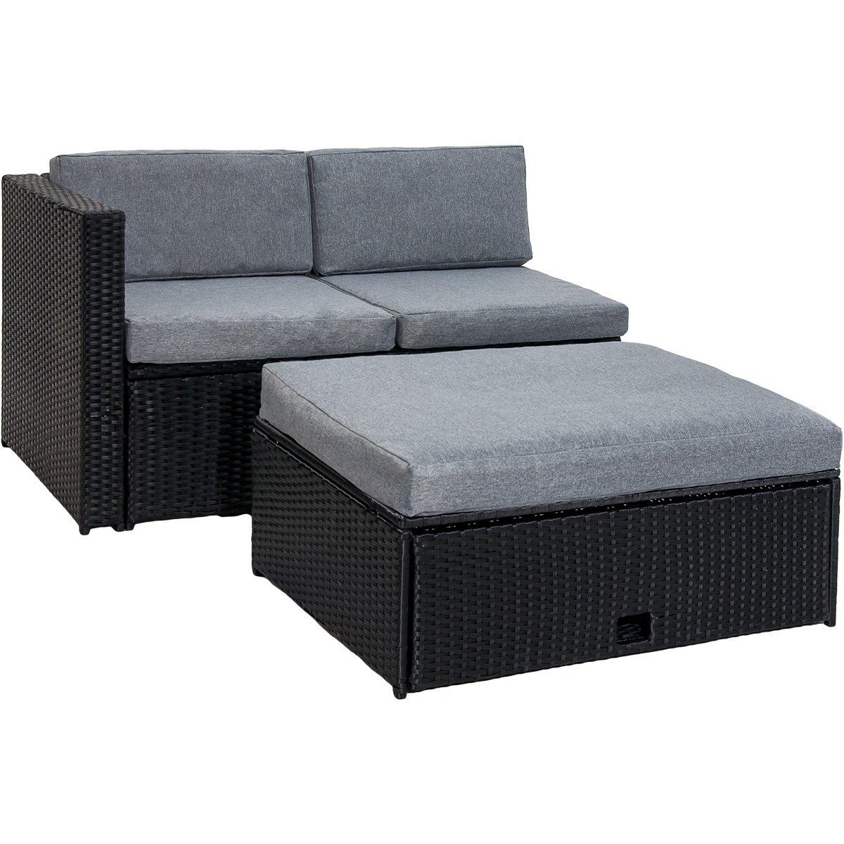 Amazon.com : Merax 4 Piece Cushioned Outdoor Patio PE Rattan ...