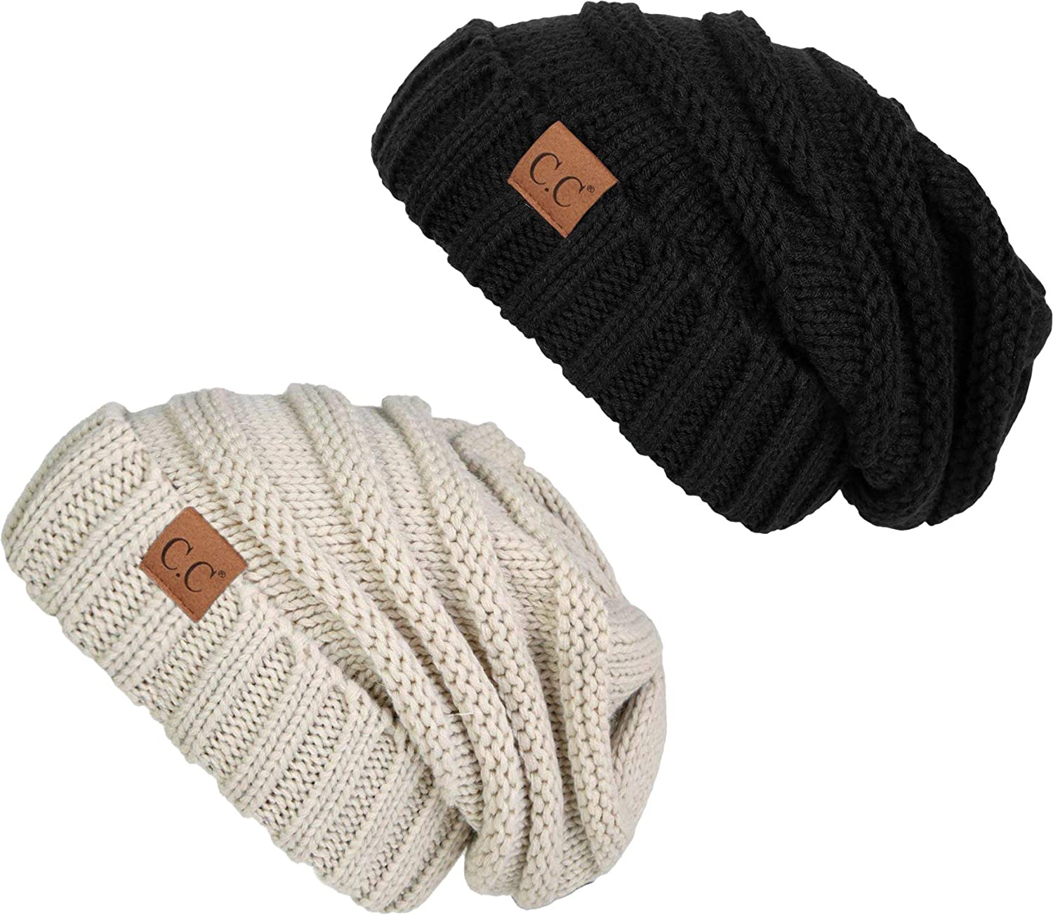 H-6100-2-0660 Oversized Beanie Bundle - 1 Solid Black ec5bbe5fa91
