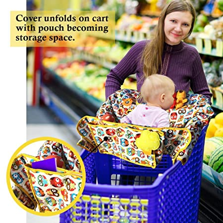 Mother & Kids Precise Infant Child Supermarket Shopping Cart Seat Cushion Chair Cushion Protection Safe Travel Portable Cushion Shopping Cart Covers