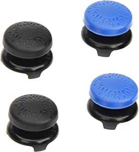 AmazonBasics PlayStation 4 Controller Thumb Grips - 4-Pack, Black and Blue