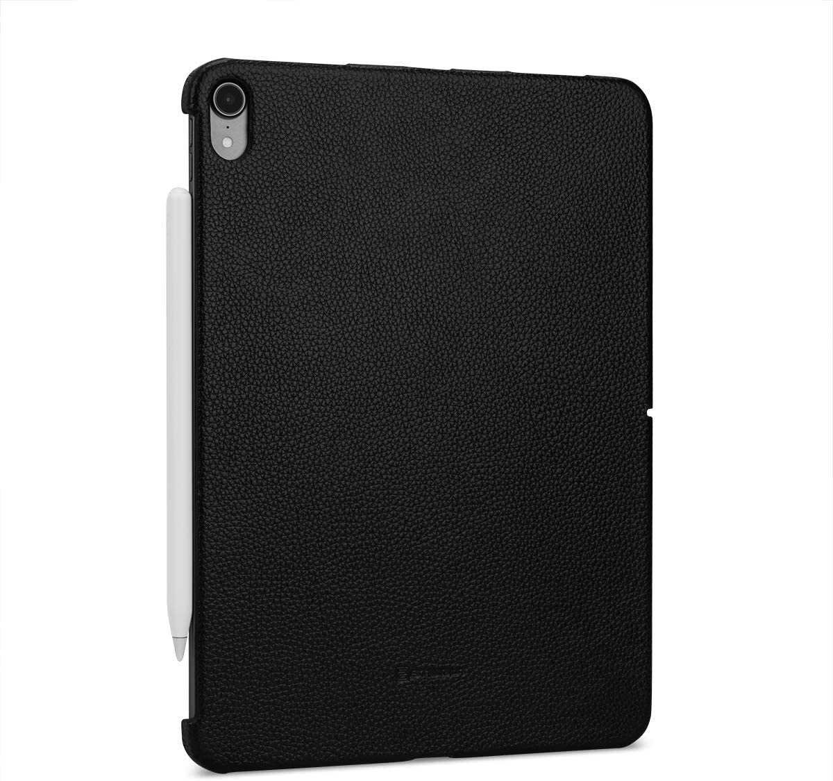 "StilGut Genuine Leather Case Back Cover for Apple iPad Pro 11"" (2018), Black"