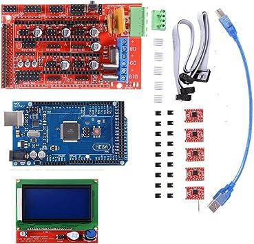 Kit de impresora 3D con Mega 2560 Board + RAMPS 1.4 Controlador + ...