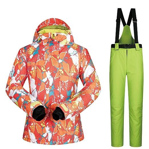 Mujer Esquí Chaquetas Traje de Nieve. Traje de esquí Impermeable y ...