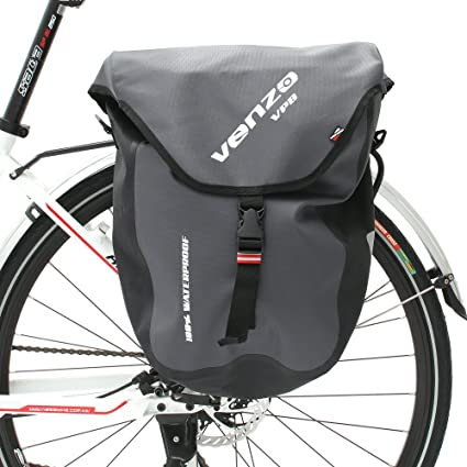 9db1f3495744 Venzo 600D TPU or Polyester Waterproof Bike Bicycle Rear Pannier Bag