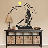 Asmi Collections PVC Wall Sticker Beautiful God Shiva on Kailash