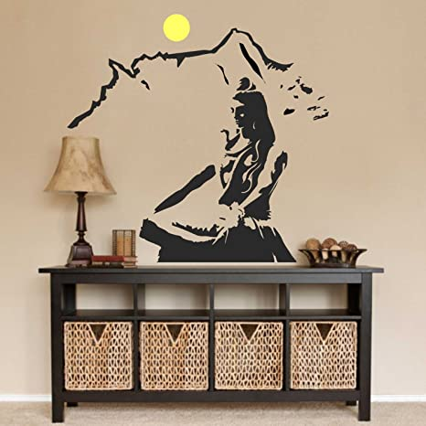c99fee84e57 Image Unavailable. Image not available for. Colour  Asmi Collections PVC  Wall Sticker Beautiful God ...