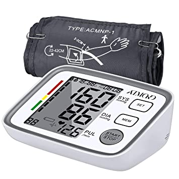 Blood Pressure Monitor for Upper Arm with 2 Users, 180 Readings Memory,  Accurate Digital BP Meter