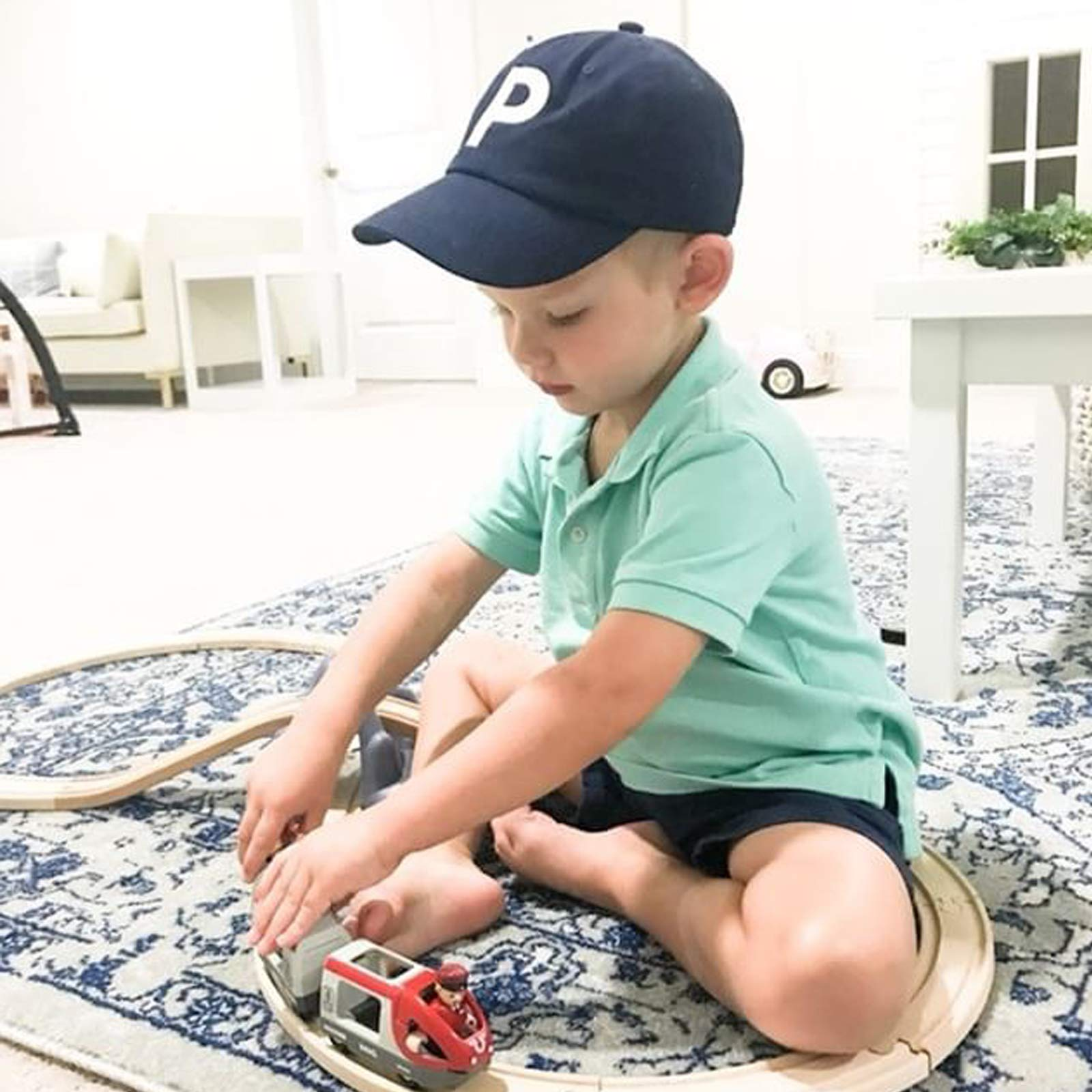 Tiny Expressions Toddler Boys' and Girls' Navy Embroidered Initial Baseball Hat Monogrammed Cap (Z, 2-6yrs) by Tiny Expressions (Image #3)