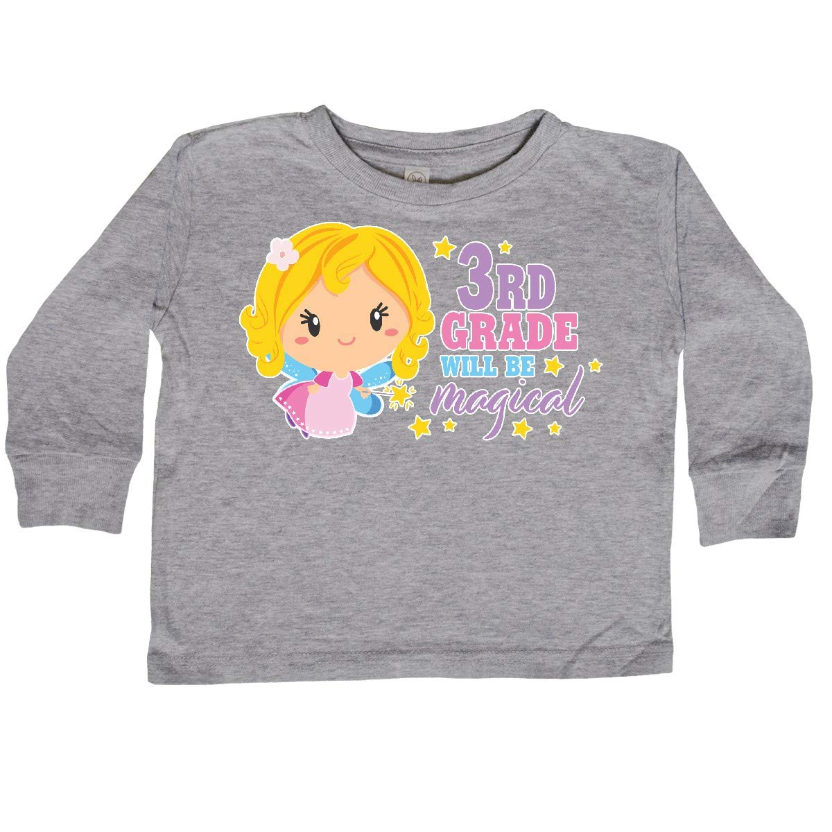 inktastic 3rd Grade Will Be Magical with Blonde Toddler Long Sleeve T-Shirt