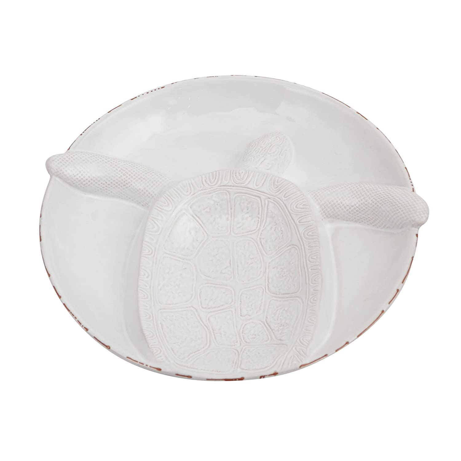 Mud Pie Turtle Section Serving Bowl Platter, White