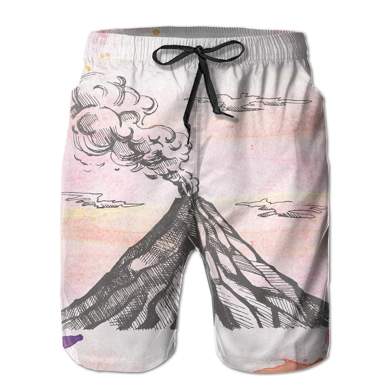 4d3b413de3 outlet Mens Summertime Seaside Beach Shorts,Volcano Beach Pants For Men