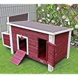 """Petsfit 53""""L X 25""""W X 28""""H Outdoor Chicken Barn Chicken Coop With Nesting Box"""