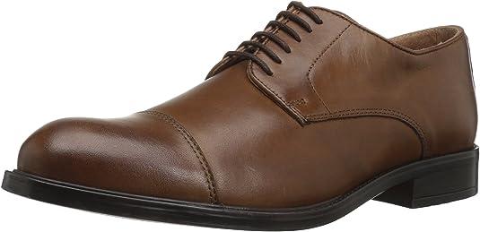 Details about  /JOSEPH ABBOUD 90938 Men's BLACK Leather Cap Toe Blucher Oxfords Shoes SIZE US12D