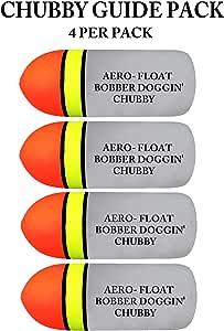 Aero-float Bobber Doggin Chubby Guide Pack 4 Floats Per Pack