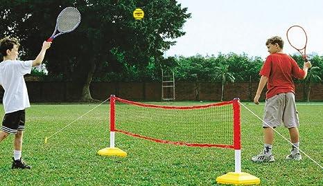 Creativeminds Uk Kids Garden Games Outdoor Playing Combination Mini Tennis Badminton Net Only Amazon Co Uk Sports Outdoors
