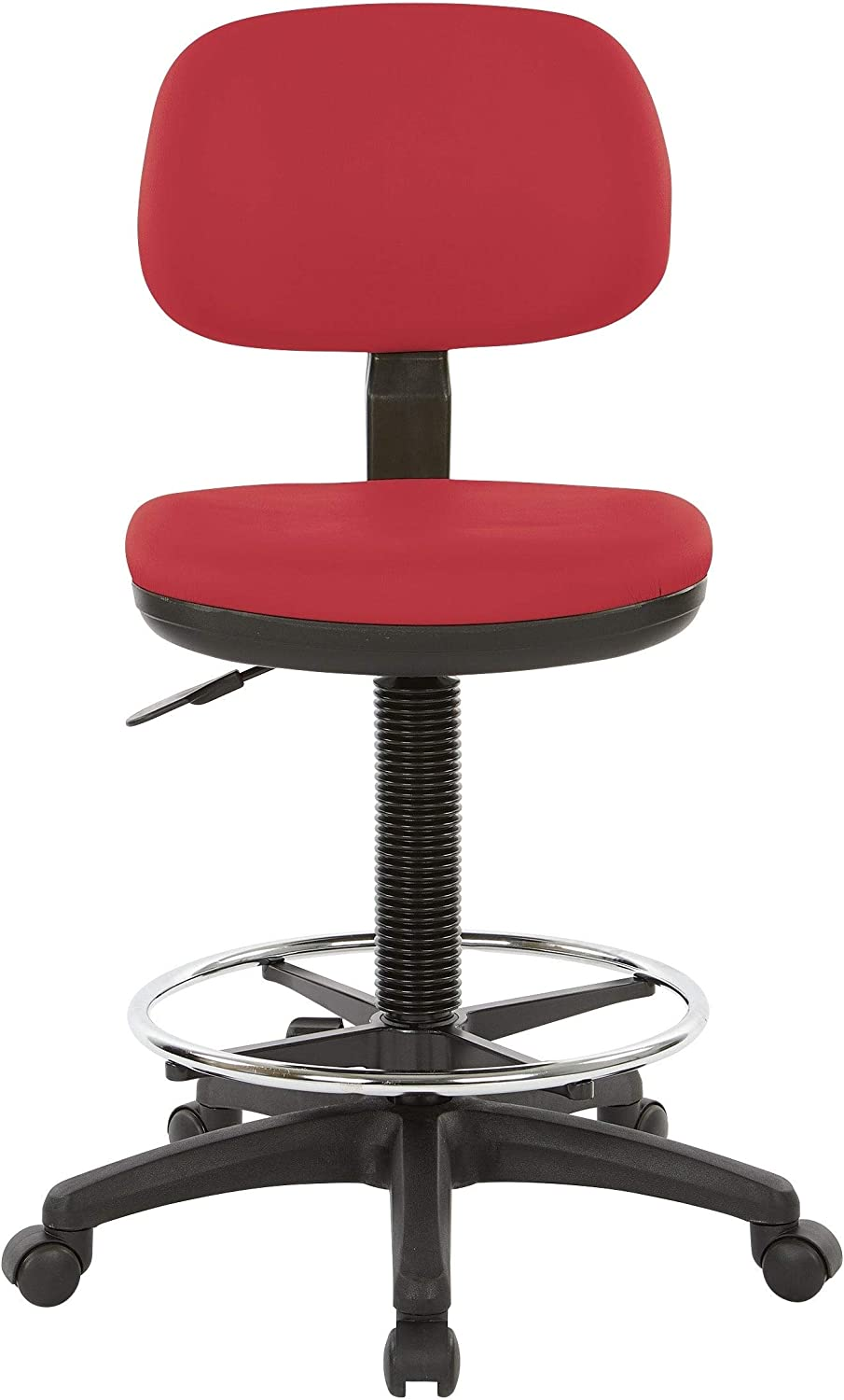 Office Star Products Drafting Chair with Sculptured Seat Dillon Lipstick