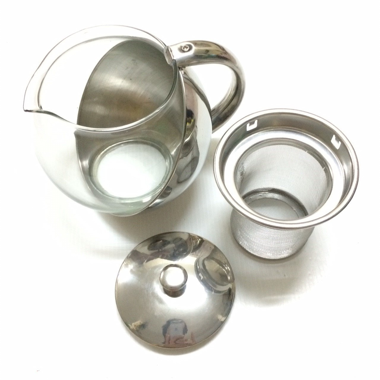 Half-Moon Teapot and Tea Strainer Set & Lid Teapot Kettle Kitchen Dining 25.36 oz. by Pisana1979 (Image #6)