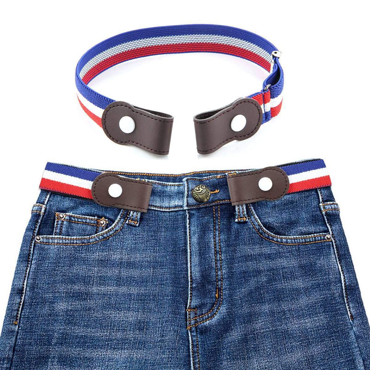 No Bulge KOBWA Buckle-Free Elastic Belt for Women Men Children Hassle Kids Ladies No Buckle Elastic Belt for Jeans Pants Dresses Invisible Belt