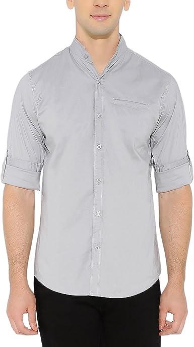 nick&jess - Camisa casual - camisa - cuello mao - Manga Larga ...