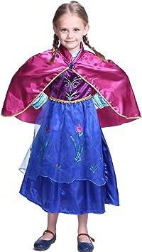 Katara - Disfraz de princesa Anna de Frozen vestido de carnaval con...