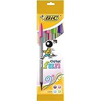 BIC Cristal Fun bolígrafos Punta Ancha (1,6 mm) – Blíster de 4 unidades, Multicolor
