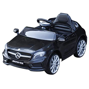 c5f9467d576 HOMCOM Mercedes Benz Licensed Kids Children Ride On Car 6V Battery  Rechargeable Headlight Music Remote Control High Low Speed Toy Black   Amazon.co.uk  Toys ...