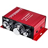 Car Audio Amplifier Power Cord DC 12V 3A, 20W + 20W Dual Channel Digital Mini