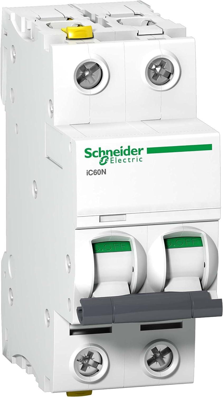 Schneider A9F04216 Disjoncteur iC60N 2P 16A C Blanc