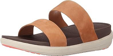 Loosh Slide Nubuck Tan Sandal