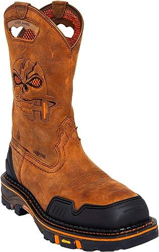 Amazon.com   Cody James Men's Decimator Skull Western Work Boot Nano  Composite Toe - Dbp -3-B   Shoes